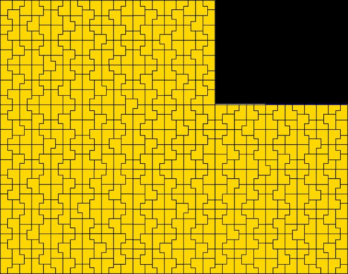 Golden b shapes tiling a plane