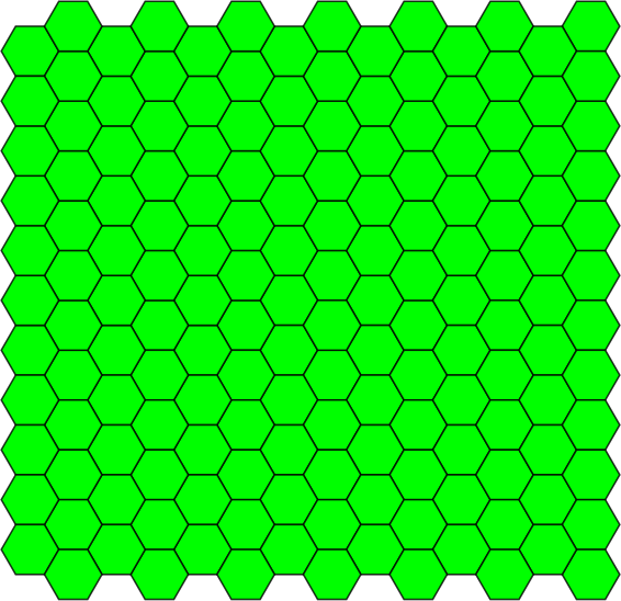 A regular tiling